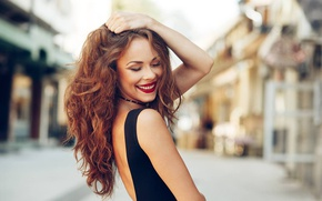 Picture Girl, Beautiful, Smile, Woman, Happy, Portrait, Smiling, Red Hair, Young