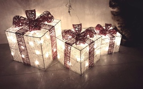 Wallpaper holiday, gifts, box