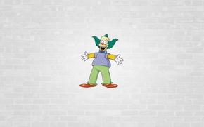 Picture The simpsons, minimalism, The Simpsons, Herschel Shmoikel Pinchas Yerucham Krustofsky, Krusty The Clown, Krusty the …
