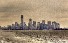 Picture the city, style, background, New York