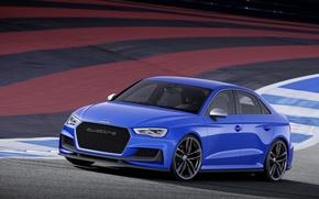 Picture blue, Audi, the concept, sedan, 2014, Audi A3 clubsport quattro concept