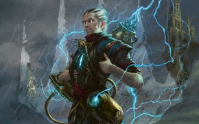 Picture eyes, zipper, Shine, device, male, flash, technician, Magic The Gathering, inventor, Eric Deschamps, Ral Zarek