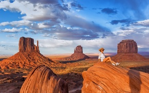 Picture girl, landscape, Monument Valley