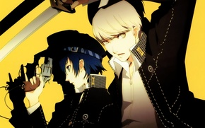 Picture weapons, anime, art, guys, Persona