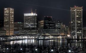 Wallpaper Pier, Lights, The evening