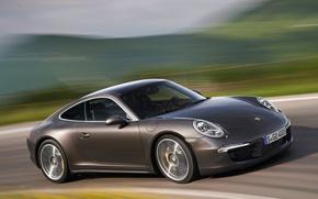 Picture Road, 911, Porsche, Machine, Movement, Machine, Car, Porsche, Car, Brown, Cars, Coupe, Carrera, Cars, Road, …