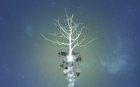 Wallpaper Tree, vector, space, stars, art