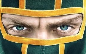 Picture eyes, look, face, the film, mask, kick, kick-ass 2, Aaron Taylor-Johnson, Aaron Taylor-Johnson, Kick-Ass 2