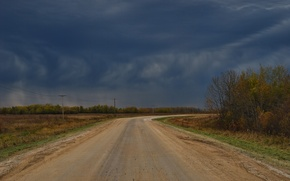 Picture Road, Autumn, Clouds, Clouds, Sky, Autumn, Road