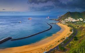 Picture sea, shore, Spain, Tenerife, Santa Cruz de Tenerife, beach Teresitas