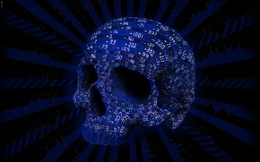 Picture color, line, skull, vector, figures, number, Matei Apostolescu, fluctuations