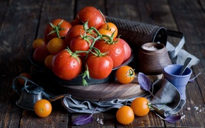 Picture still life, vegetables, tomatoes, tomatoes