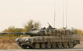Wallpaper grass, protection, tank, leopard 2a6