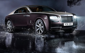 Picture Rolls-Royce, luxury, light, rolls-Royce, auto, Wraith, lights