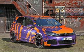 Picture Volkswagen, Purple, Racing, Golf, 2014, Cam, Shaft, Haiopai