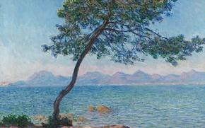 Wallpaper sea, landscape, picture, Claude Monet, The Esterel Mountains
