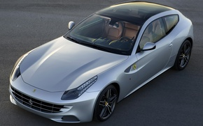 Picture Ferrari, supercar, silver, Panoramic