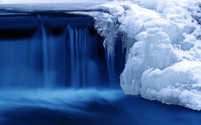 Picture cold, ice, winter, snow, nature, river, waterfall