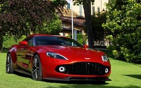Picture Aston Martin, Red, Zagato, Vanquish
