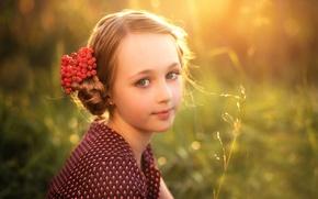 Picture girl, Rowan, berry