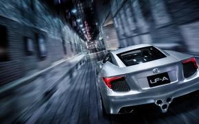 Picture Concept, Lexus, Speed, Lexus, Speed, Supercar, Supercar, Silver, LFA