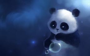 Picture look, figure, ball, Panda, apofiss