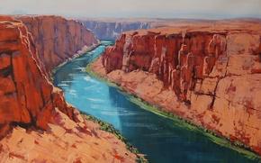 Picture ART, FIGURE, ARTSAUS, COLORADO RIVER