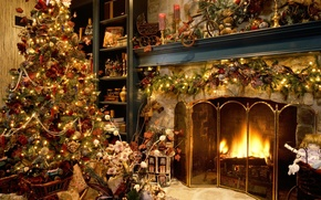 Picture tree, new year, Christmas, gifts