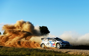 Picture Auto, Dust, Volkswagen, Speed, Skid, Day, WRC, Rally, Polo, Andreas Mikkelsen