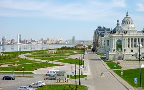 Picture river, architecture, Kazan, Tatarstan, The Palace Of Farmers