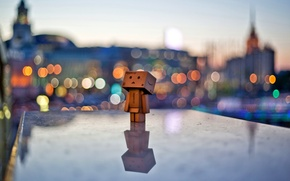 Wallpaper the city, lights, mood, the evening, danbo, danbo
