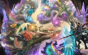Wallpaper rainbow, adventure, knight, magic, art, the portal