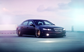 Wallpaper tuning, car, stance, acura tl, Acura
