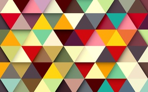 Wallpaper abstraction, background, triangles, colors, colorful, abstract, background