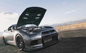 Picture GTR, Nissan, hood