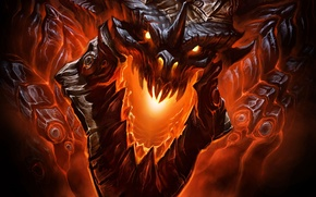 Picture dragon, dragon, WoW, Deathwing, deathwing