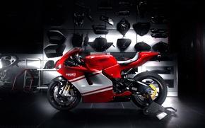 Picture red, Ducati, sportbike, profile, sport bike, Desmosedici