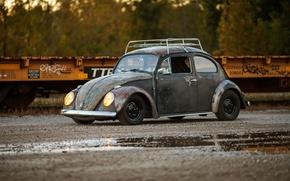 Picture volkswagen, beetle, Old, Rusty