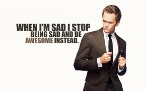 Wallpaper how i met your mother, Neil Patrick Harris, quote, Barney Stinson, Neil Patrick Harris, how ...
