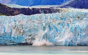 Picture ice, sea, mountains, lake, glacier