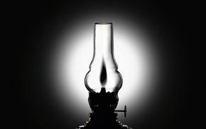 Picture black and white, Lamp, kerosene stove