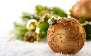 Picture snow, holiday, toy, new year, ball, the scenery, happy new year, christmas decoration, Christmas Wallpaper, …