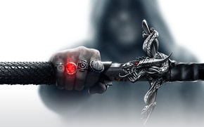 Picture magic, dragon, hand, sword, hood, the handle, Electronic Arts, Bioware, sheath, rings, Dragon Age 3: …