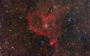 Wallpaper Heart, Heart, emission nebula, in the constellation Cassiopeia