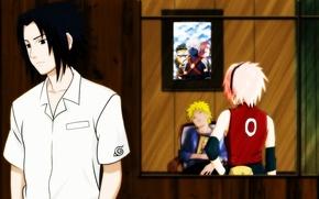 Picture eyes, look, picture, sleeping, book, Anime, Naruto, Naruto, art, haruno sakura, Uchiha Sasuke, Uzumaki Naruto, …