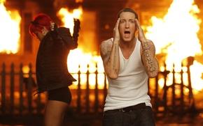 Picture singer, rihanna, singer, Eminem