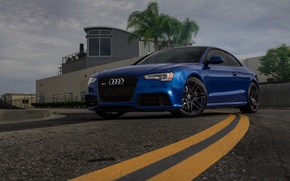 Picture Audi, Blue, RS5, Track