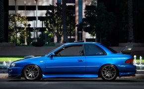 Picture Machine, Tuning, Blue, Car, Car, STI, Subaru, Impreza, Wallpapers, Tuning, Sport, JDM, Wallpaper, Side, STI, ...