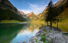 Picture summer, landscape, mountains, lake