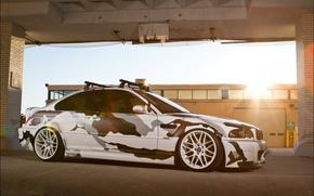 Picture the sun, machine, BMW, BMW, camouflage, bumper, E46, kit